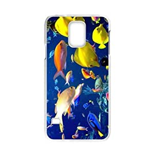 Cheap Hot cases, Colorful undersea world picture for white plastic Samsung Galaxy S5 case