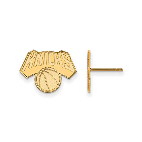 NBA New York Knicks Post Earrings in 14K Yellow Gold by LogoArt