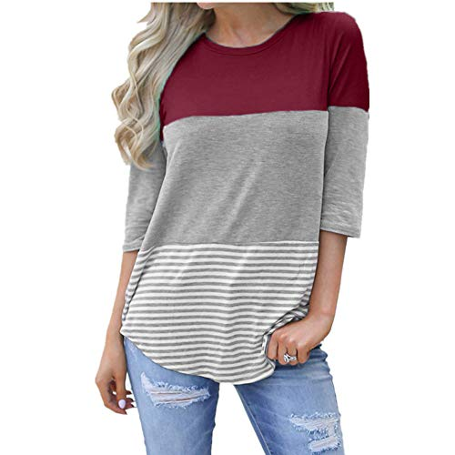 Londony ♥‿♥ Womens Three Quarter Sleeve Casual Loose S