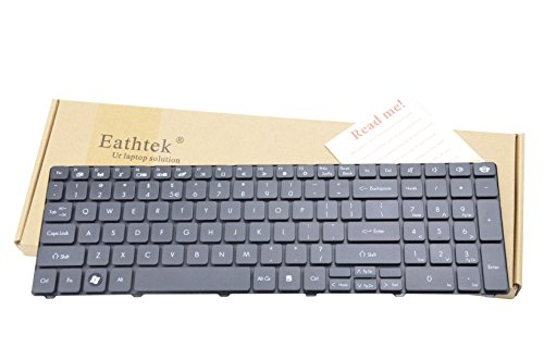 Eathtek Replacement Keyboard for Gateway ID59 ID59C ID79C NV50A NV51B NV51M NEW90 NEW95 PEW71 PEW72 PEW76 PEW91 MS2291 MS2230 NV53A NV55C NV59A NV59C NV73A NV79C PEW91 MS2291 MS2230 Series Black US Layout