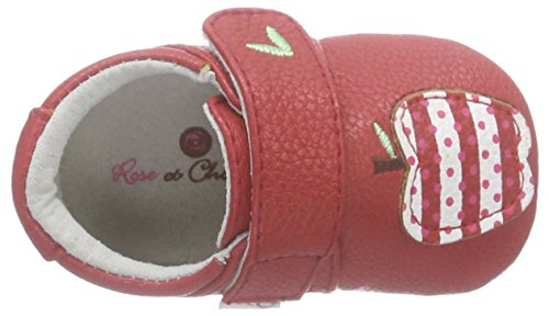 Rose & Chocolat Apple Red - Zapatillas de casa Bebé-Niños Rojo