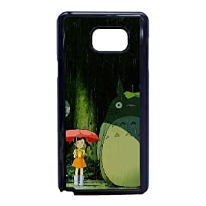 Plastic Durable Cover Samsung Galaxy Note 5 Cell Phone Case Black Feqez My Neighbour Totoro Durable Phone Case