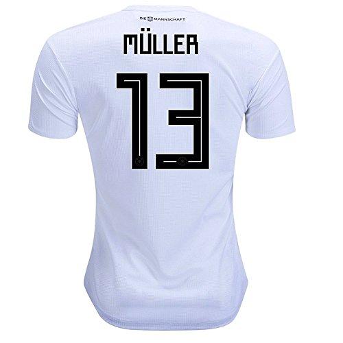zawhz Muller #13 Germany 2018 Home Jersey Color White Size L by zawhz