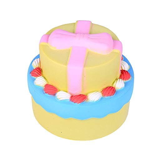 (Jumbo Bow Cake Scented Super Slow Rising Kids Toy Stress Reliever Toy)