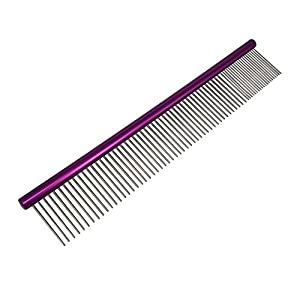 My Pet Comb | The Comfortable 7 or 10 Inch Grooming Comb with Different-spaced Rounded Hypoallergenic Stainless Steel Teeth | Easy Grip and Convenient Grooming for Pets Dog Cat with Medium Coarse Fur