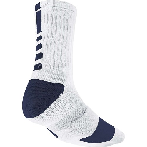 Chaussettes Basketball Hyper Navy Crew Midnight Navy Elite White NIKE S Midnight 5BwgII