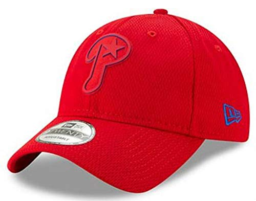 New Era 2019 MLB Philadelphia Phillies Clubhouse Baseball Cap Hat 9Twenty Adjust Red