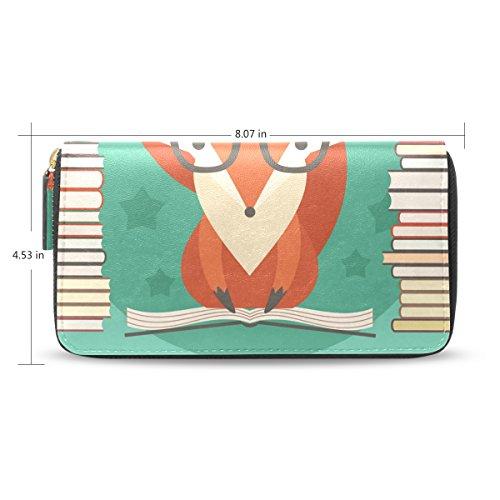 Clutch Fox Card Bennigiry Purse Yourself Educate Lady Holder Credit Wallet Long 7w8wfzxq5
