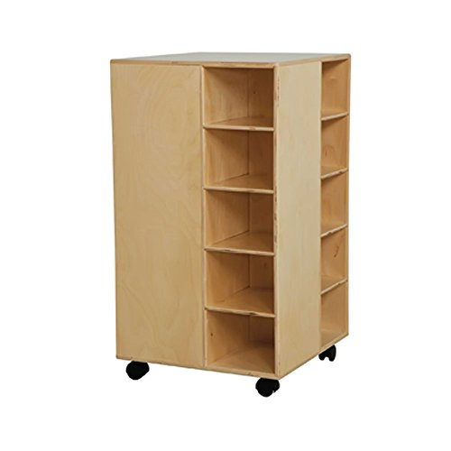 "Wood Designs WD61409 Baltic Birch Plywood Cubby Spinner without Trays 22x22x37"" (H x W x D)"
