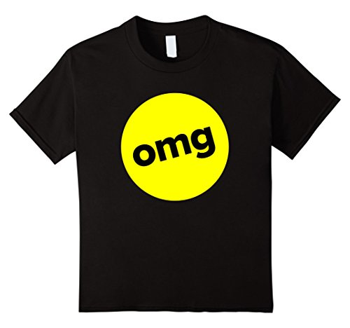 Teenage Halloween Ideas (Kids Funny Texting-Lingo Omg Halloween Group Costume T-shirt 4 Black)
