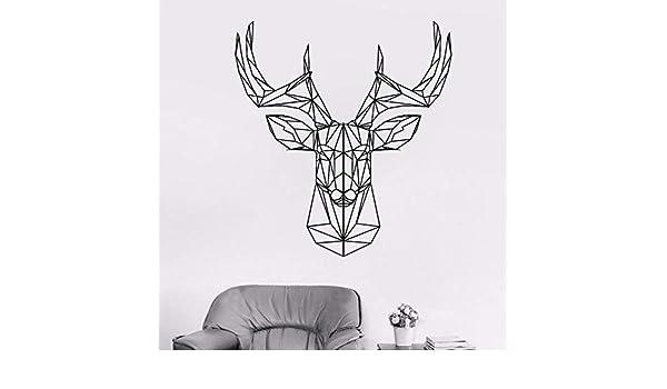 wukongsun Diseño de calcomanía de Pared de Cabeza de Ciervo de ...
