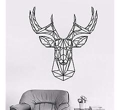 Ajcwhml Cabeza de Ciervo geométrica calcomanía de Ciervo astas de Caza Etiqueta de la Pared Origami Vinilo Etiqueta Animal decoración de la Pared Elegante Deco 52X57CM: Amazon.es: Hogar