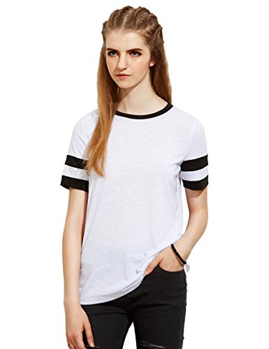 MakeMeChic Womens Casual Striped T Shirt product image
