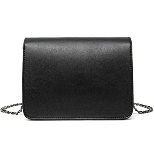 PU à Sac Chaîne Simple Bandoulière Main DHFUD Black Crossbody Womens Sac à Mode Tqzg0w