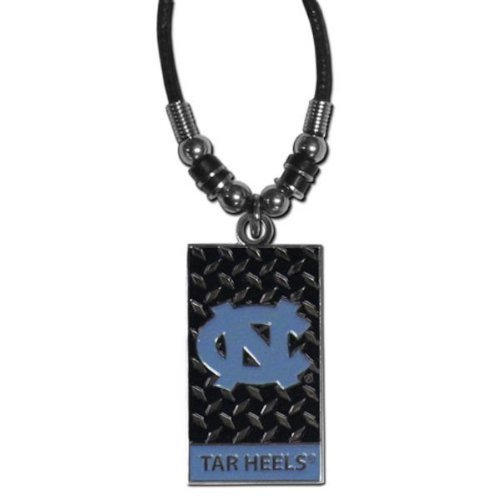 NCAA North Carolina Tar Heels Diamond Plate Rope Necklace, 20-Inch (North Carolina Tar Heels String)