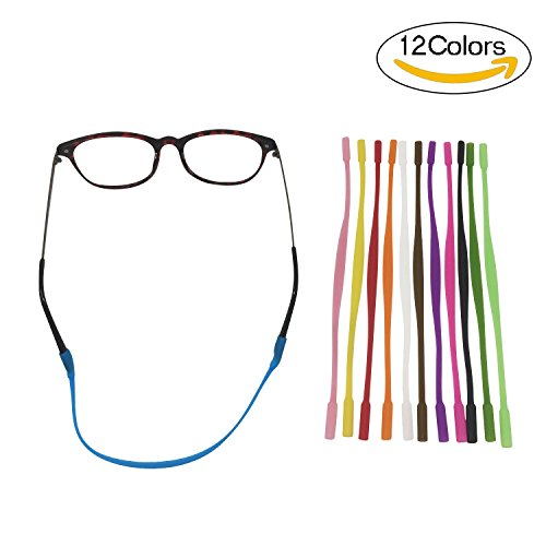 Colossal ship Anti-slip Glasses Strap for kids Sports Glasses Holder for child's Silicone Eyeglass Chains 12 Pieces - Strap Eyeglasses Kids