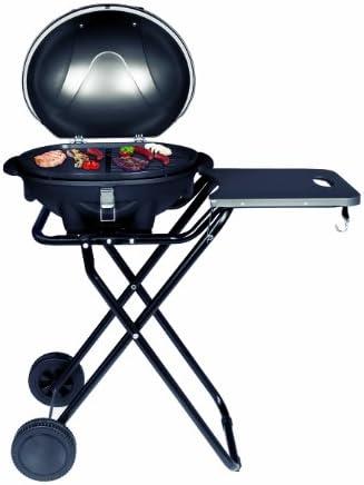 SUNTEC Grill sur pied electrique BBQ-9493 [Convient également comme Grill de table électrique à barbecue, avec étagère, thermostat réglable, max. 2400 W]