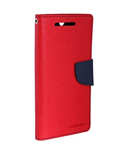 Finaux Stylish Mercury Flip Cover For Samsung C9 Pro_Red Smartphones