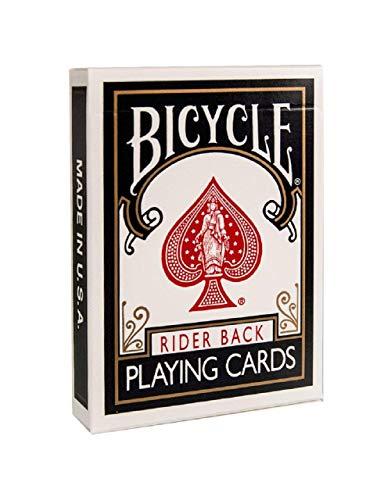 Bicycle 1007421 Standard Rider Back Playing Cards, Black