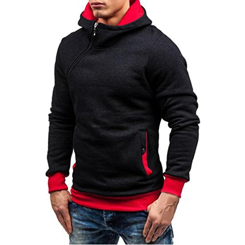 Homme Fit Slim À Sweat Sweatshirt Longues Sweater Rouge Casual Youthny Manches Top Chaud Capuche Rwd7TCPPxq
