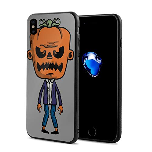 iPhone X Case Happy Halloween Pumpkin Zombie Lightweight Anti-Fingerprint Fashion Cases Covers Compatible with iPhone X ()