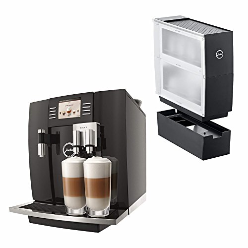 Jura 15066 Automatic Coffee Machine Giga 5, Piano Black with Jura Black Cup Warmer Accessory Drawer