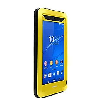 LOVE MEI lovemei Funda de Cristal y Metal Gorilla en Aluminio Potente Carcasa de protección Carcasa para Sony Xperia Z3, Compatible con Sony Xperia Z3