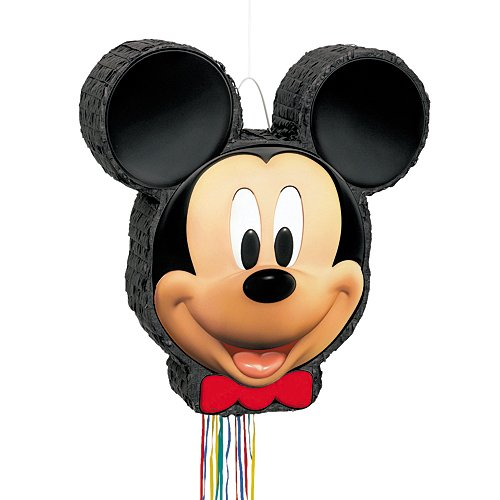 Mickey Mouse Pinata, Shaped Pull String ()