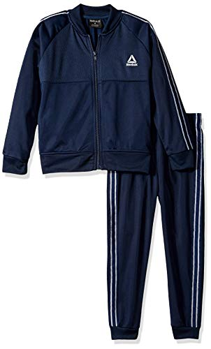 Reebok Boys' Toddler 2 Piece Athletic Track Suit Set, The The Warm Up Bright Navy, 4T