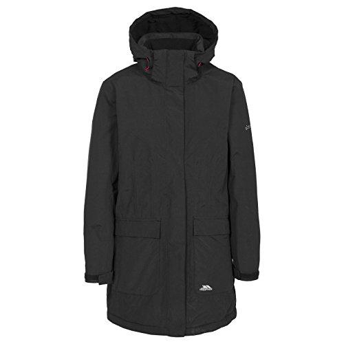 Trespass Womens Franchesca Waterproof Parka Jacket Black
