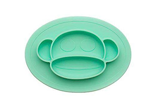 Bambini & ME Children's Placemats- Soft, Flexible Silicone Food Tray - Dinner Mats for Babies and Toddlers - Dishwasher Safe - Round by Bambini & ME