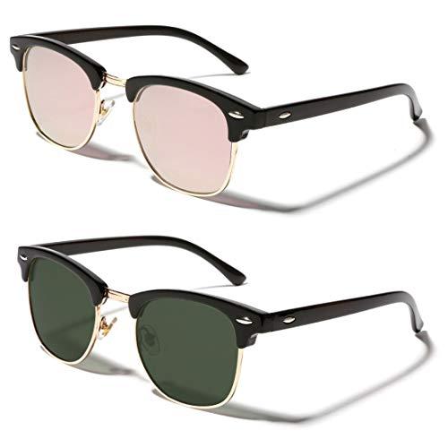 TIJN Semi Rimless Sunglasses for...