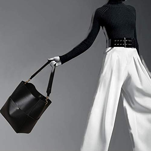 De Totalizador Vintage negro Bolsa Cuero Hombro Monedero Las Sodial Para Cubo Mujeres Bolso USqwYqX4p
