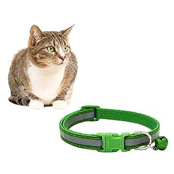 Mackur Collar para Mascotas con cascabeles para Gato y Perro, Reflectante, Collar Fluorescente para