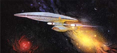 Tng Poster - 001 Star Trek TNG Captain Picard's Ready Room Artwork of the Enterprise Litho Poster 11 x 24 Small Handling Dent