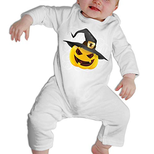 Girl's Boy's Pumpkin Face Halloween Long Sleeve Romper Pajama Clothes -