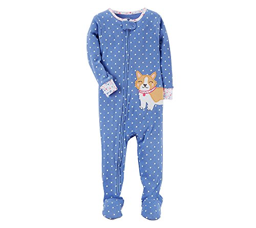 Pajamas Dog Carters - Carter's Baby Girls' 12M-4T One Piece Dog Pajamas 18 Months