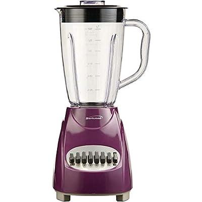 Brentwood(r) Appliances Jb-220pr 50-Ounce 12-Speed + Pulse Electric Blender With Plastic Jar (purple)