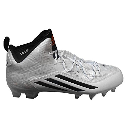adidas Men's Special SM Crazyquick 2.0 Mid Football Cleats (11.5, White/Core Black/Copper Metallic)