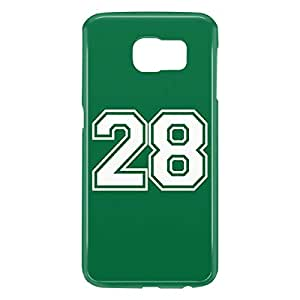 Loud Universe Samsung Galaxy S6 3D Wrap Around Number 28 Print Cover - Green