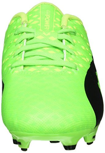 Puma Evopower Vigor 3 Fg Jr, Botas de Fútbol Unisex Niños Verde (Green Gecko-puma Black-safety Yellow 01)
