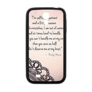 Marilyn Monroe Quote Phone Case for Samsung Galaxy S4 Case by mcsharks