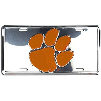 Signs 4 Fun SL2750 Clemson Tigers License Plate