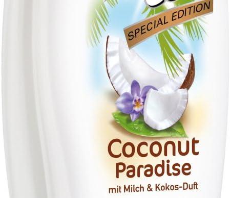 duschdas Coconut Paradise Gel de Ducha, doble Pack (3 x 2 x 250 ml): Amazon.es: Belleza