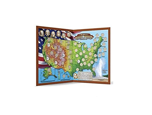 Natural Wonders America's National Park Quarters Collection Map