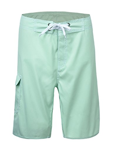 Unitop Mens Quick Dry Swim Trunks With Linning,Light Green,32