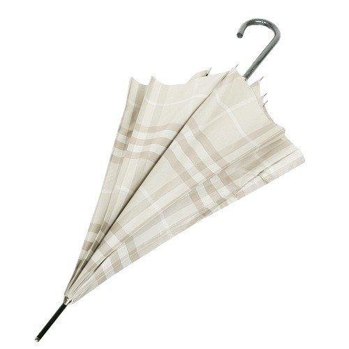 (バーバリー)BURBERRYチェックがお洒落なレディースジャンプ雨傘(長傘)/ライトベージュ