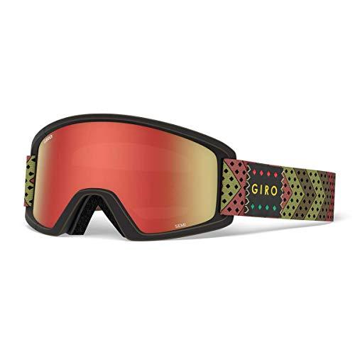 Giro Semi Snow Goggles Mo' Rasta - Amber Scarlet/Yellow - Ski Rasta