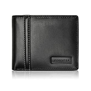 Forester Branded Stylish Black Men's Genuine Leather Wallet/Purse