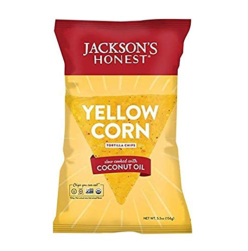 JACKSONS HONEST CHIPS Yellow Corn Tortila Chips, 5.5 Ounce (Pack of 2) by Jackson's Honest